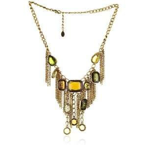 Sparkling Sage Jewel Gold one Fringe Chain Necklace Jewelry