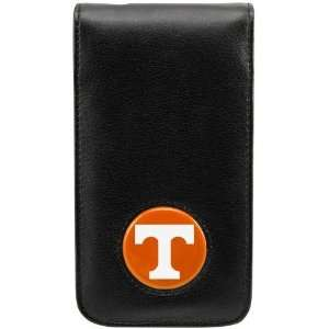 Tennessee Volunteers Black Leather Team Logo iPhone Case