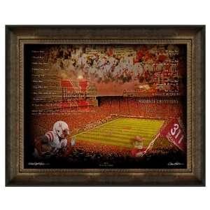 University of Nebraska Huskers Artwork Big Red 30x40 Framed Canvas