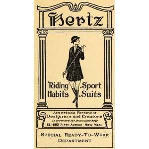 Sport Suit Clothing Horse Designer   Original Print Ad