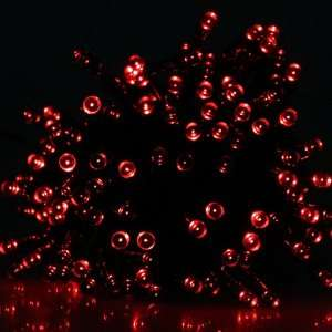 Solar Power Red LED String Light for Christmas Party
