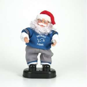 Detroit Lions New Animated Dancing Santa Claus  Sports