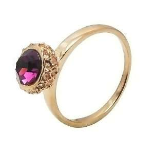 High end Amethyst Ring in Rose Gold Plated Engagement/anniversary
