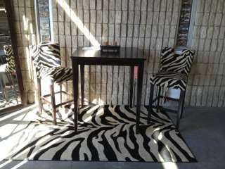 Zebra Animal Print Design Area Rug any size (4782)
