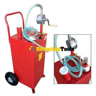 30 Gallon Gas Caddy Tank Storage Drum Barrel Gasoline Fluid Diesel