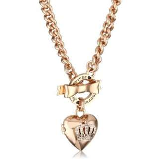 Juicy Couture Bow Toggle Heart Crown Necklace   designer shoes