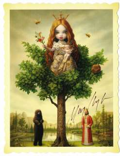 Mark Ryden Tree of Life HAND SIGNED IN PERSON portfolio card print