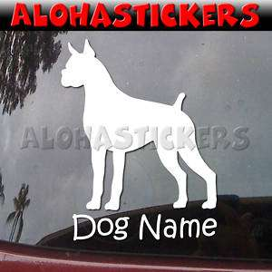 Custom BOXER DOG Vinyl Decal Car Window Sticker B272