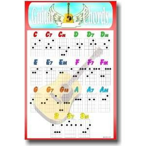 Guitar Chords Educational POSTER: Office Products
