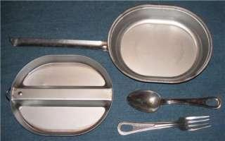 Vintage Wyott US Army Mess Kit Spoon Fork Pan Camping Field Gear
