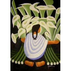 Diego Rivera Art Reproduction Oil Painting   The Flower