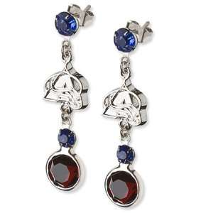 Colorado Avalanche Earrings NHL Logo w/ Team Colors