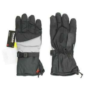 New Core Black & Gray Snowboard Ski Gloves Mens Sports