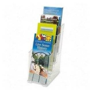 24 pack Clear Acrylic Tri fold Brochure Holders