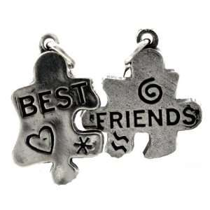 Design Visions Best Friends Puzzle 925 Sterling Silver Double Charms