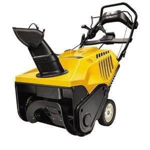 21 179cc single stage snow blower with electric start craftsman lawn