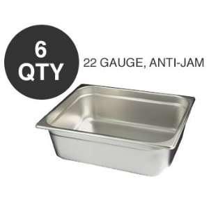 6 HALF SIZE 4D ANTI JAM STEAM TABLE PAN