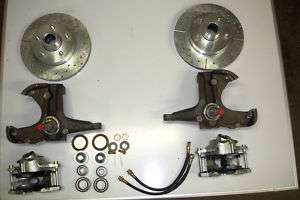 chevrolet c10 chevy truck 2 inch drop spindle brake kit 5 lug d 1971