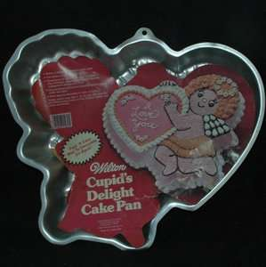 Wilton CUPIDs DELIGHT cake pan angel heart valentines day