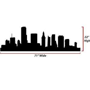 Miami Skyline Silhouette  X Large  Vinyl Wall Decal: Everything Else