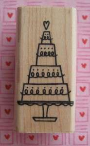 LOVE CAKE ~ WEDDING ANNIVERSARY ~ A Muse ~ Rubber Stamp