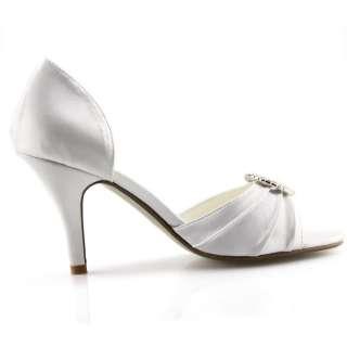 SHOEZY new white rhinestones buckle heels pumps shoes (pro Wedding