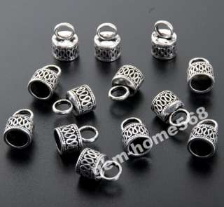 40 Tibetan Silver Wire Curved End Caps For Cord B461
