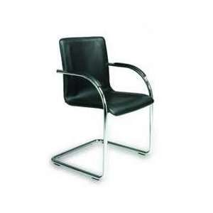 Boss B9530 4 Chrome Frame Black Vinyl Side Chair, 4 Chair