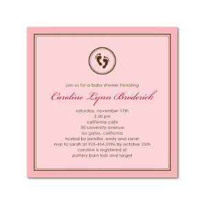 Baby Shower Invitations   Baby Feet Pink By Fine Moments Baby