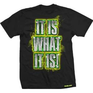 Shake Junt T Shirt: Is What It Is [Large] Black: Sports