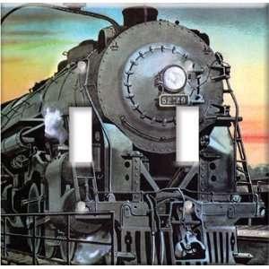 Switch Plate Cover Art Steam Locomotive Train DBL Home