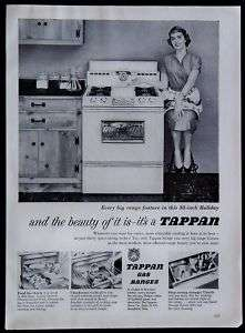 1954 Tappan 30 Gas Ranges Stoves Magazine Ad