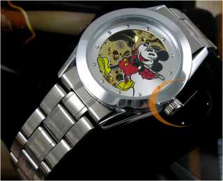 MICKEY STAINLESS AUTO MECHANICAL MENS/BOYS TOP WATCH