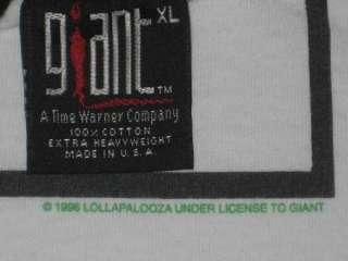 VTG LOLLAPALOOZA METALLICA RAMONES 1996 CONCERT T SHIRT