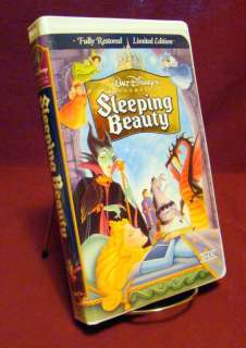 Walt Disney ~ SLEEPING BEAUTY Limited Edition THX ~ (VHS) White Clam
