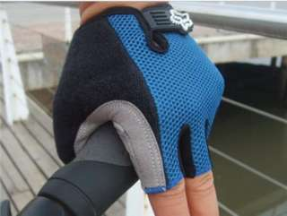 2012 NEW BMX Cycling Bike Bicycle Half Finger Gloves Blue Size M   XL