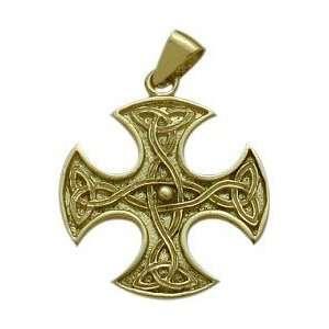 Celtic 10 Karat Gold 4 Way Trinity Knot Pendant Jewelry