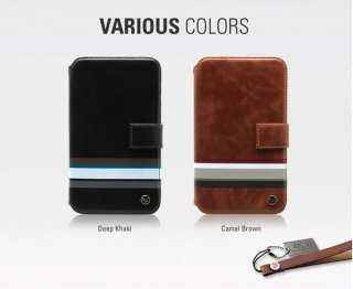 ZENUS Samsung Galaxy Note Leather Case N7000 MASSTIGE STRIPE PRINT