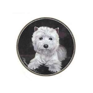 Westie West Highland Terrier Set of 4 Stone Coasters New Gift