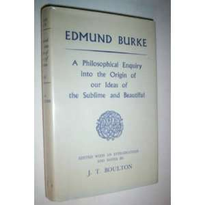 origin of our ideas of the sublime and beautiful Edmund Burke Books