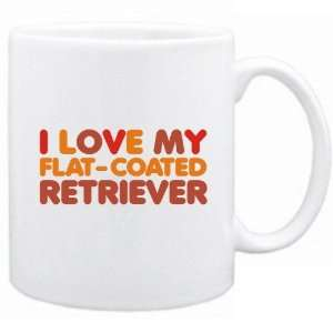 New  I Love My Flat Coated Retriever  Mug Dog: Home