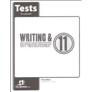 Writing and Grammar 11 Tests (9781606820957) BJU Press Books