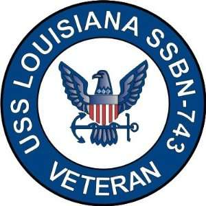 US Navy USS Louisiana SSBN 743 Ship Veteran Decal Sticker