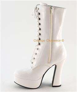 PLEASER Electra 1020 Womens Gogo Ankle Boots Heels Shoe