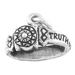 Sterling Silver Armor of God Belt Charm Jewelry