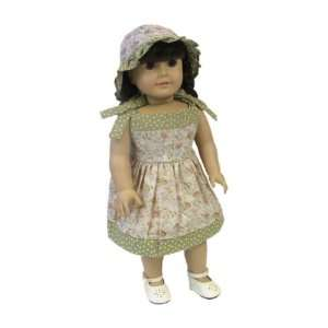 American Girl Doll Clothes Mauve Floral Dress Toys