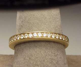 18K Yellow Gold .40 Ct. Diamond Pave Band Ring 4.6 Grams