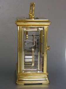 QUALITY ENGLISH CARRIAGE CLOCK by ST JAMES, LONDON & double ended key