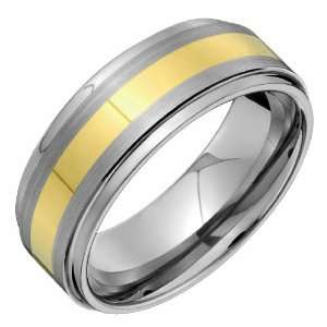 Exquisite Tungsten Carbide Ring Wedding Band   Comfort Fit