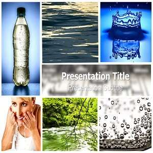 PowerPoint Template   Backgrounds on Fresh Water PowerPoint Templates